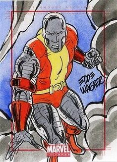 2014 Marvel Universe, Colossus, Sketch Card by Eddie Wagner