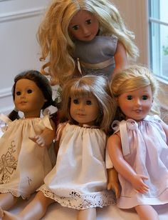 Pillowcase dresses for dolls made from tea towels!  Too much cuteness.