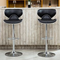 Roundhill Furniture Roundhill Masaccio Cushioned Leatherette Upholstery Airlift Adjustable Swivel Barstool with Chrome Base, Set of Multiple Colors Available Adjustable Bar Stools, Swivel Bar Stools, Counter Stools, Contemporary Bar, Home Decor Kitchen, Kitchen Dining, Kitchen Ideas, Kitchen Stools, Foot Rest