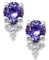 Tanzanite (1-1/4 ct. tw.) and Diamond Accent Stud Earrings in 14k White Gold