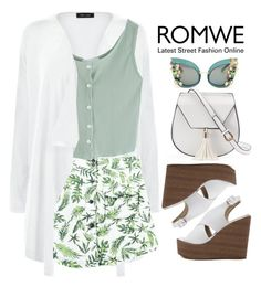 """ROMWE: Green Buttoned Knit Top"" by bmaroso ❤ liked on Polyvore featuring New Look, Chicnova Fashion, Yoki, Dolce&Gabbana and romwe"