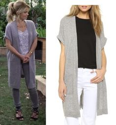 Sweaters and Coats Fuller House season 2 , episode 8 clothes: DJ's (Candace Cameron Bure) long grey maxi cardigan Candace Cameron Bure, Full House, Dj Tanner Fuller House, Mom Outfits, Cute Outfits, Maxi Cardigan, Short Sleeve Cardigan, Grey Cardigan, Grey Maxi