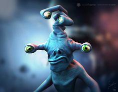 Four Eyes Crosseyed  #CharacterDesign #Creaturedeisng #3D