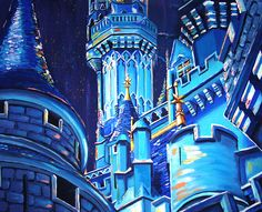 WDW Castle! My friends artwork! Beautiful!  Check out her site!