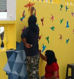 A wall painting project underway at World School of Design. The campus is the canvas. Fashion Designing Course, World University, India First, Canvas Art, Arts And Crafts, Textiles, Graphic Design, Architecture, School