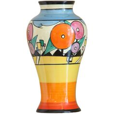 Rare Art Deco Vase By Clarice Cliff sold by Gazelles of Lyndhurst. Find more Clarice Cliff items in our Art Deco and modern design stock catalogue. Clarice Cliff, Ceramic Pottery, Pottery Art, Ceramic Vase, Art Nouveau, Susie Cooper, Art Deco Era, Vintage Pottery, Ceramic Artists