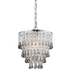 """Bring exotic allure to your home d�cor with this eye-catching design, hand-picked by the editors of Cond� Nast Traveler.Product: Pendant      Construction Material: Metal and crystal Color: Clear       Features: Will enhance any space            Dimensions: 10"""" H x 9"""" Diameter         Accommodates: (1) 100 watt medium base bulb - not included     Shipping: This item ships small parcelExpected Arrival Date: Between 04/12/2013 and 04/20/2013Return Policy: This item is final sale and cannot be…"""