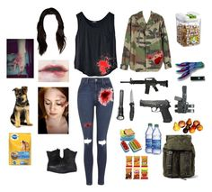 """""""Zombie"""" by gingerfruit ❤ liked on Polyvore featuring Topshop, Converse and Dolce&Gabbana"""