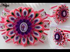 Многослойный цветок на ободке / МК / Канзаши / The layered flower on the rim…