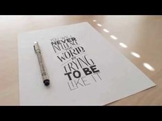 Hand lettering tutorial - wish I could do this