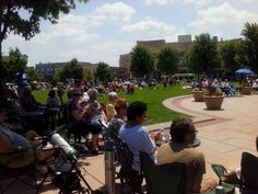 Live at Lunch Concert Series - great day with the family! Opera House Square, Oshkosh, WI