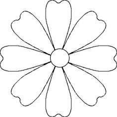 Images For > Flower Petals Template