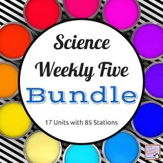 Want to try centers in science?  Science Weekly Five Bundle- This paid resource has 17 science centers units for 3rd or 4th grade science-- fun, quick, and self-directed!