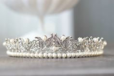 this is the bridal tiara/headband I'll be wearing by Eden Luxe Bridal. The veil will attach behind it