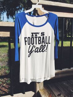 "Our ""It's Football Y'all"" top is beyond perfection for any football game big or small! Support your favorite team by wearing one of these adorable tops for Friday Night Lights!"