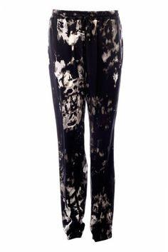 ROBERTO CAVALLI Roberto Cavalli Silk Pattern Trousers. #robertocavalli #cloth #pants-shorts