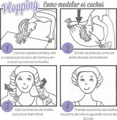MariMoon - Cachos: Plopping e Fitagem Leave In, Short Hair Styles, Natural Hair Styles, Curly Hair Care, Curly Girl, Wavy Hair, New Hair, Bad Hair Day, How To Make Hair