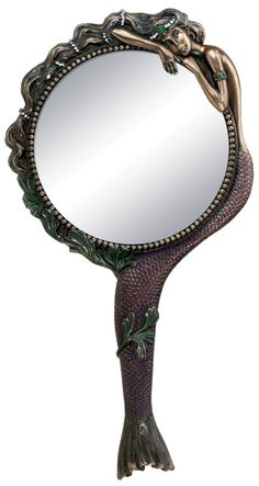 Amazon.com - Art Nouveau Collectible Mermaid Hand Mirror Nymph Decoration - Handheld Mirrors