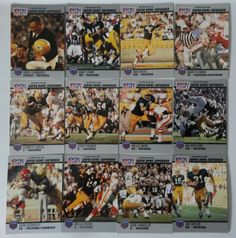 1990 Pro Set Super Bowl Supermen Green Bay Packers Team Set 12 Football Cards #GreenBayPackers Green Bay Packers Fans, Packers Team, Ray Nitschke, Football Cards, Baseball Cards, Nfl Officials, Vince Lombardi, Dolphins, Super Bowl