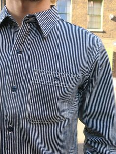 5e7ffac9 TFH #Hickory Stripe #WorkShirt This shirt is made with a #hickorystripe  fabric consisting