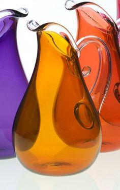Art Glass Pitchers: