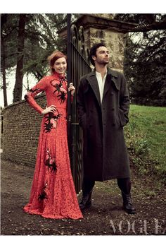 Aidan Turner and Eleanor Tomlinson, photographed by Jason Bell, in Vogue