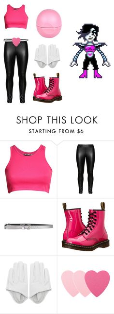"""Mettaton casual cosplay Undertale"" by dragon-wing ❤ liked on Polyvore featuring Pilot, Studio, Just Cavalli, Dr. Martens, Sephora Collection, River Island, women's clothing, women, female and woman"