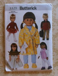 """18"""" Doll Clothes Sewing Pattern"""