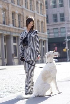 Vogue shoot; the borzoi is more elegant than the outfit