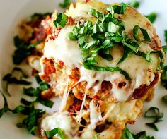 This Gluten Free Crockpot Eggplant Parmesan is perfect for easy entertaining!