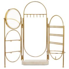 Marble and Gold Jewelry Holder Screen – metallic/gold – Storage & Decor – Jewelry + Beauty Organizers – Pottery Barn Teen Marmor und Gold Schmuck Halter Bildschirm Tiffany Jewelry, Jewellery Storage, Jewelry Organization, Jewelry Holder, Jewelry Box, Cheap Jewelry, Fine Jewelry, Turquoise Jewelry, Gold Jewelry