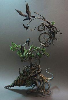 portfolio cephlopod with ravens  http://www.creaturesfromel.ca/index.html