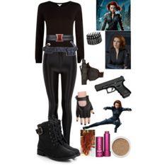 DIY Halloween costume: Black Widow