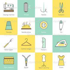 pictogramas equipos de costura - Buscar con Google