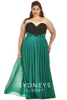 f10f85b0011 Check out the deal on Sydneys Closet Plus Size Beaded Lace Gown at French  Novelty. Lillian s Prom
