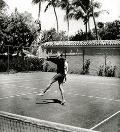 JFK playing tennis