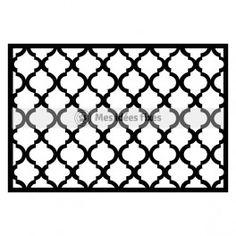 Arabic pattern silhouette cut file