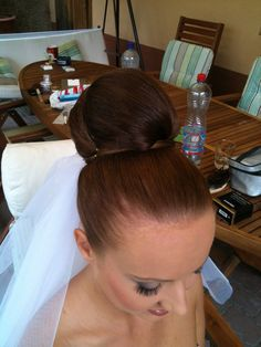 Bun work hair