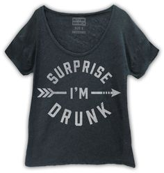 Surprise I'm Drunk Womens Tee Black – Buy Me Brunch