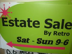 Here it is folks! This great sale is being held this weekend from 9-6PM both Saturday and Sunday at  7800 South 12th Street in Portage Take 131 south to Center Ave. right (East) then turn right on 12th St. Just follow our Green & Pink Estate Sale Signs! See you there! http://www.estatesales.net/estate-sales/MI/Portage/49024/520170