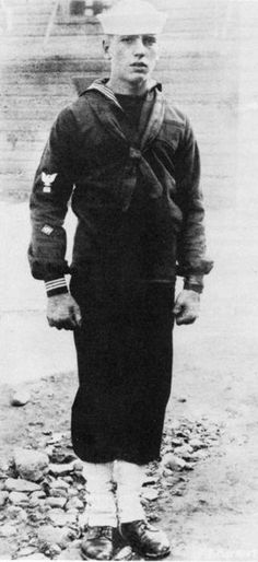 Humphrey Bogart (1899-1957) enlisted in the U.S. Navy during WW I in the spring of 1918. He is recorded as a model sailor who spent most of his months int the Navy after the Armistice was signed ferrying troops back from Europe. He is ranked by the American Film Institute as the greatest male star in the history of American cinema. He appeared in 75 movies and was nominated for three Oscars winning one for The African Queen.