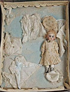 antique doll in presentation box