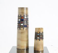 Anonymous; Glazed Cermaic Vases by Perignem, 1960s.