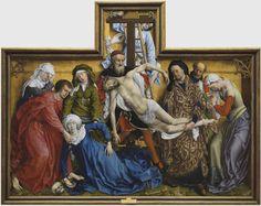 """""""El descendimiento"""" (antes de 1443) - Rogier van der Weyden"""