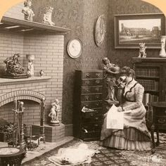 Edit image, resize image, crop pictures and appply effect to your images Victorian Women, Edwardian Era, Victorian Era, Crop Pictures, 3d Pictures, Foto 3d, Vintage Interiors, Library Of Congress, Victorian