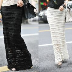 Cutout full lace decoration slim fish tail lace skirt  hight waist for women $17.71