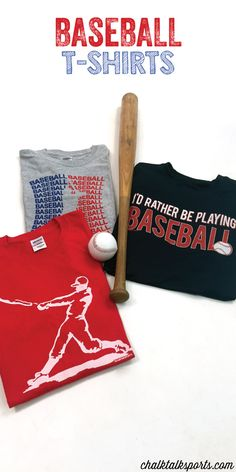 Our Baseball T-shirts make a great gift for any baseball player! They can be stylish and comfortable all summer long with our baseball tees. So many different colors and designs to choose from at ChalkTalkSPORTS.com!