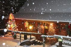 Wouldn't you love to be snowed in at our 4 bedroom cabin 4088, here at Hidden Mountain Resorts?