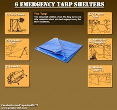 Six Emergency Tarp Shelters Infographic