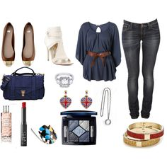 daytime, created by #drue-young on #polyvore. #fashion #style Wal G Nudie Jeans Co.